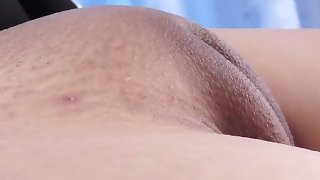Hot Asian Pussy Camel-toe Closed-up